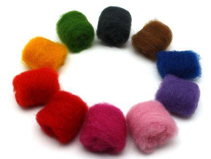 filzwolle im vlies 1kg 10 farben zum trocken und nassfilzen. Black Bedroom Furniture Sets. Home Design Ideas