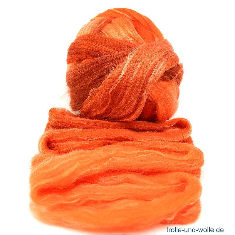 Floating Color Merino-Seidenkammzug  Erde 50 g