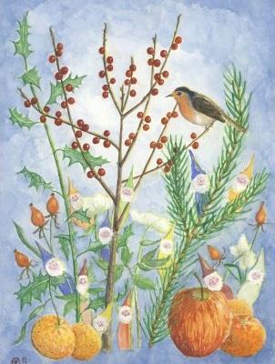 Postkarte *Winterzwerge