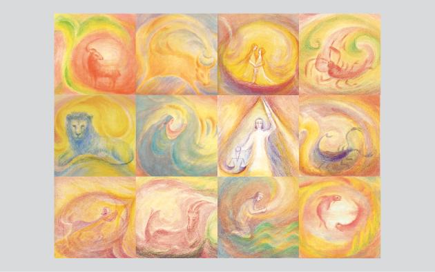 Sternzeichen-Kunstkarten Set Meining-Jenny