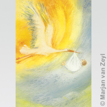 Kunstkarte Der Storch