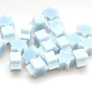 10 mini mini Sternchen Schafmilchseife Eisblume