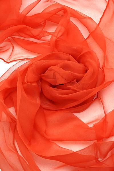Seidenschal aus Chiffon 180 x 55 cm Orange