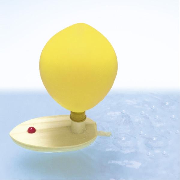 Süßes Luftballonboot