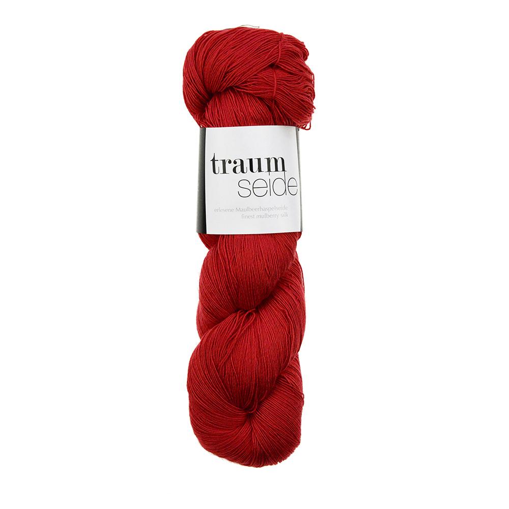Traumseide Lacegarn Rot 005