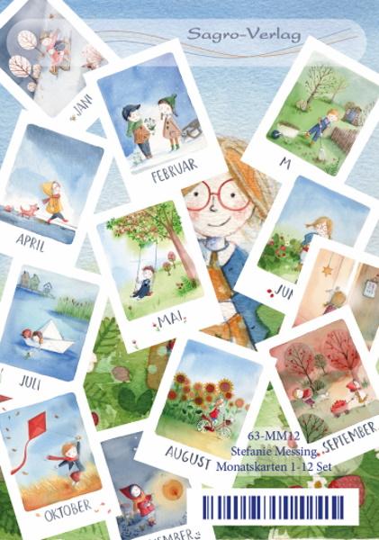 12 Monatskarten von Stefanie Messing