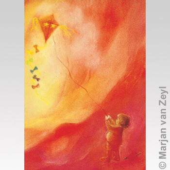 Kunstkarte Drachenflieger