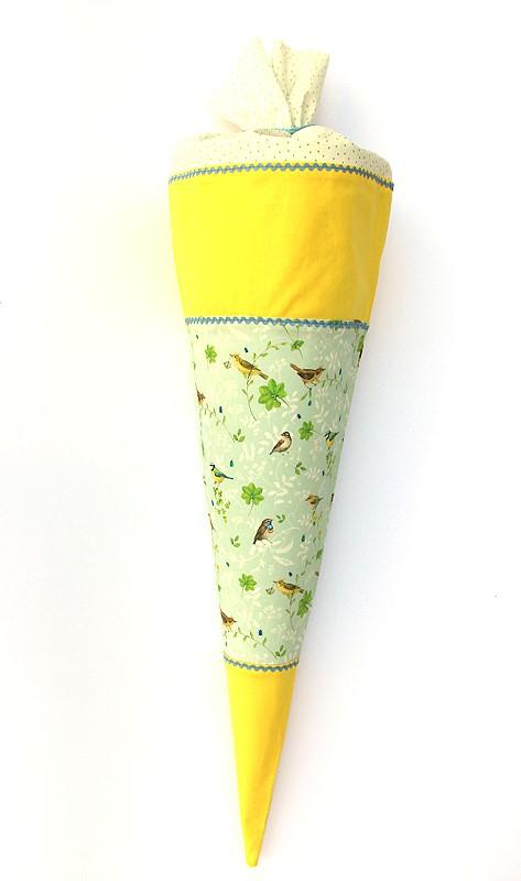 Schultüte - Zuckertüte süße Vögel