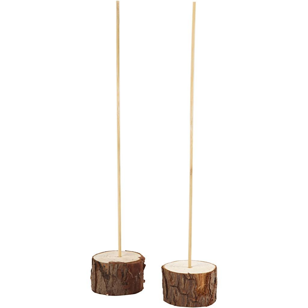 Holzständer - Standfuß mit Stab