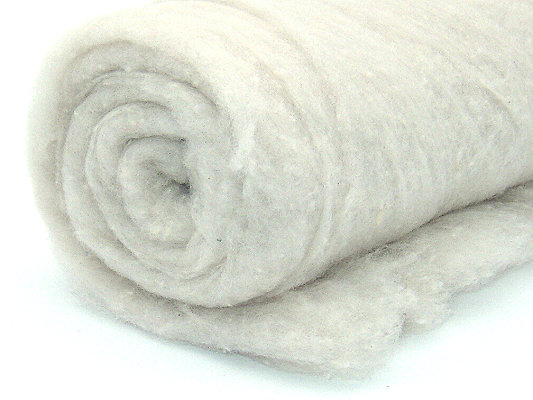 Filzwolle / Bunte Märchenwolle im Vlies Weiß