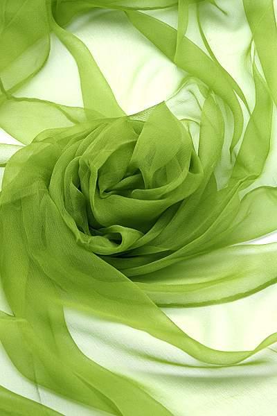 Seidenschal aus Chiffon 180 x 55 cm Maigrün