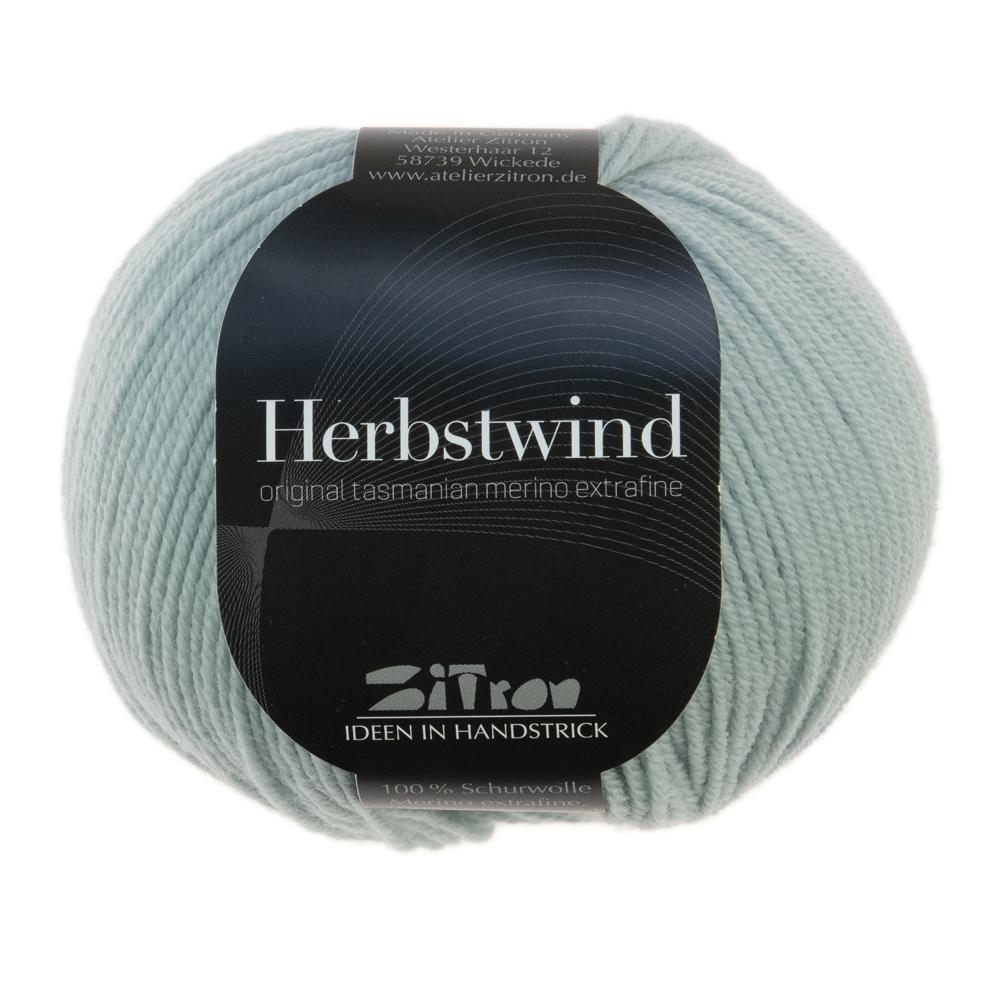 Herbstwind Merinowolle 26 zartblau