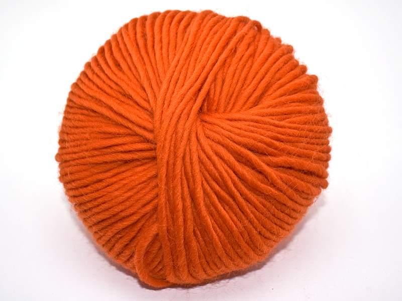 Strickfilzen / Schurwolldochtgarn Orange