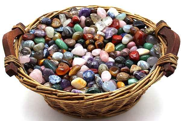 Edelsteinmischung aus Trommelsteinen Größe M 0,5 kg