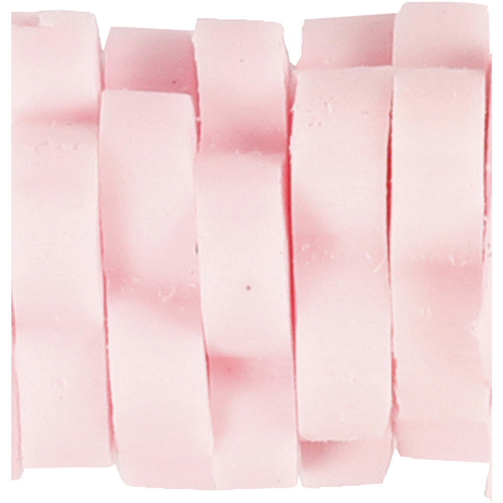 Kleine Tonperlen in Blütenform rosa