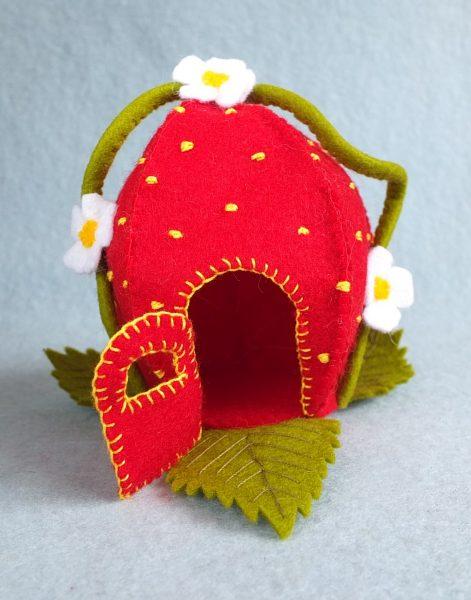 Bastelpackung Erdbeerhäuschen Atelier Pippilotta
