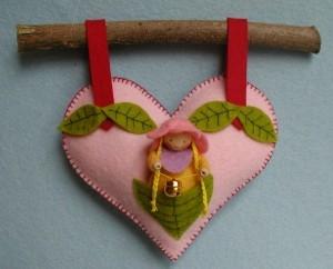 Herz an einem Zweig Bastelpackung