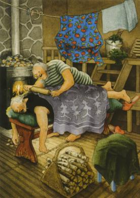 Postkarte Frauen beim Wellness