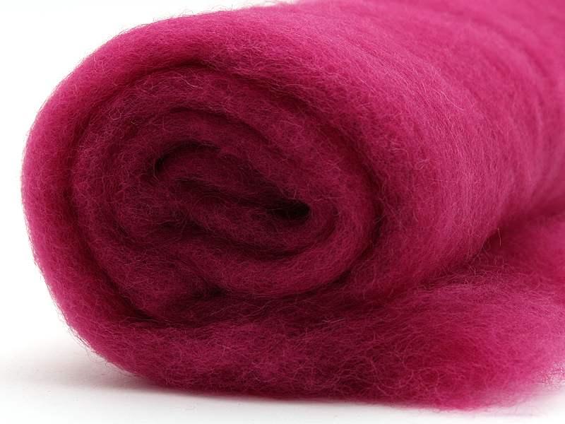 Filzwolle / Bunte Filzwolle im Vlies Pink