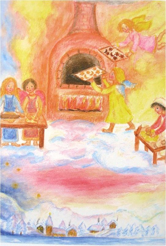 Kunstkarte Himmlische Weihnachtsbäckerei