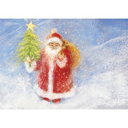 Postkarte der Weihnachtsmann