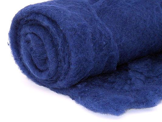 Filzwolle / Bunte Märchenwolle im Vlies Nachtblau