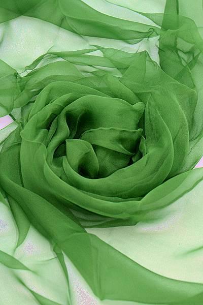 Seidenschal aus Chiffon 180 x 55 cm Grasgrün