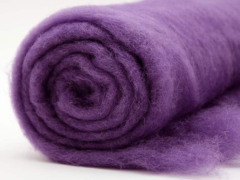 Filzwolle / Bunte Filzwolle im Vlies Lavendel