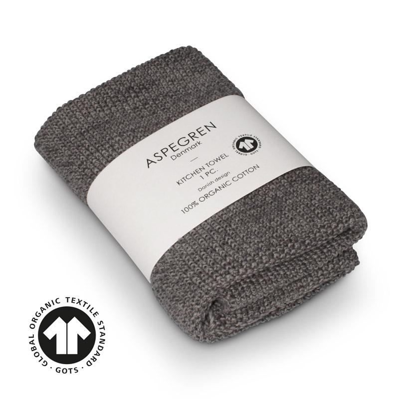 Aspegren kl. Handtuch Organic Cotten Blend Grey Dark