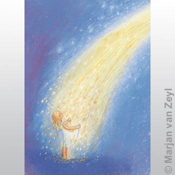 Postkarte Sterntaler von Marjan van Zeyl