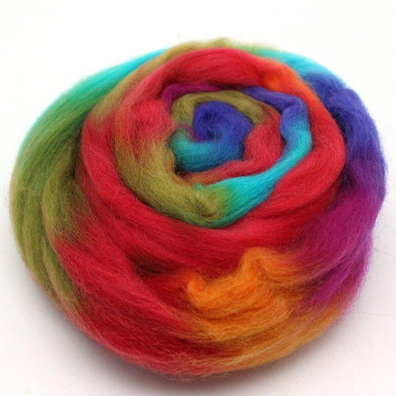 Multicolor Wolle zum Filzen Magie