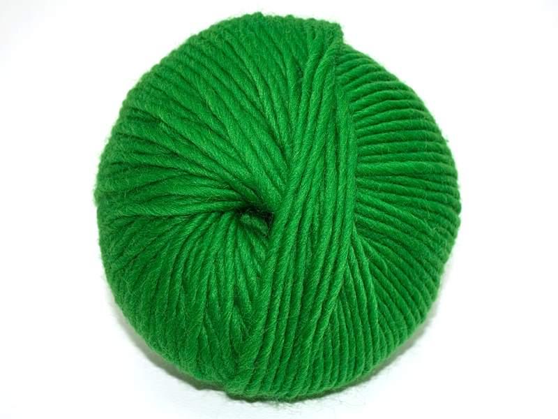 Strickfilzen / Schurwolldochtgarn Grasgrün