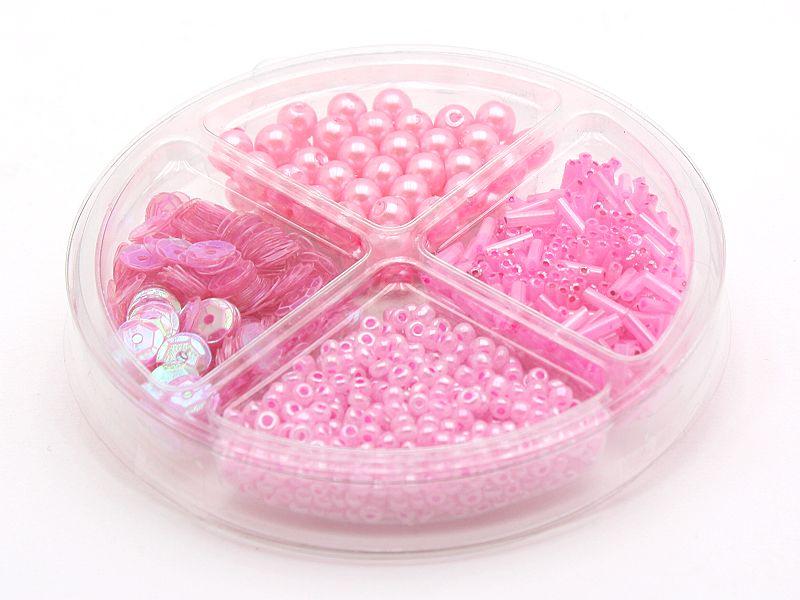 Perlen Schmuckset in Rosa