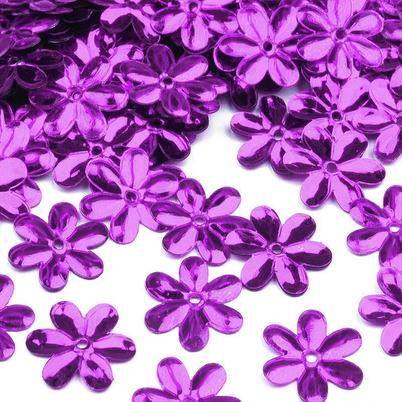 Pailetten Blüten lila