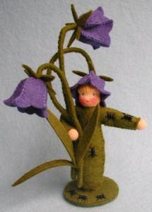 Blumenkind Glockenblume- waldorf Bastelpackung