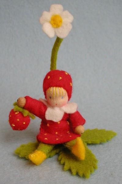 Bastelpackung Erdbeere - Jahreszeitentisch Atelier Pippilotta