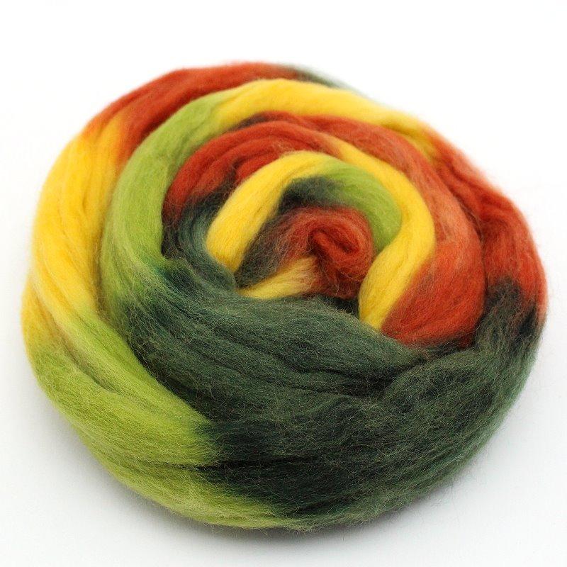 Multicolor Wolle zum Filzen Herbst