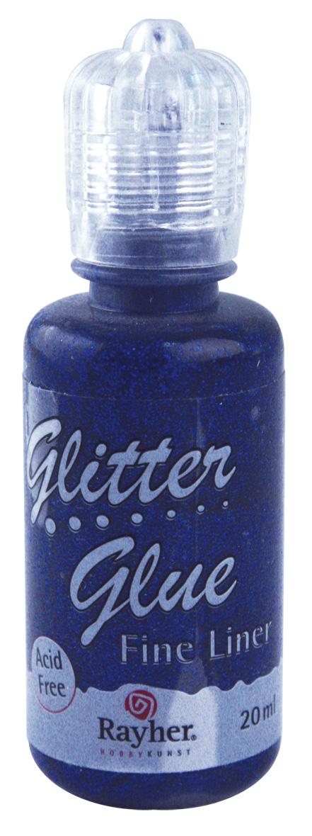 Glitter Glue metallic blau