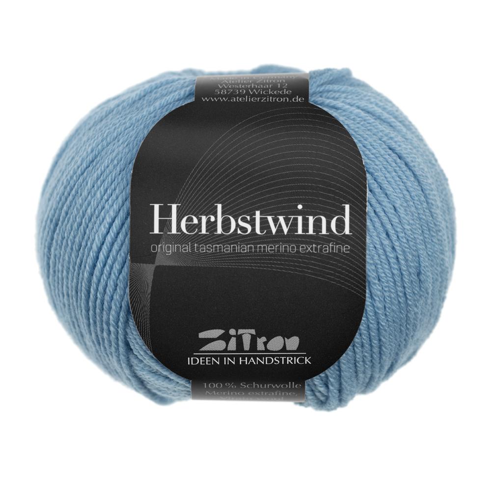 Herbstwind Merinowolle 06 hellblau