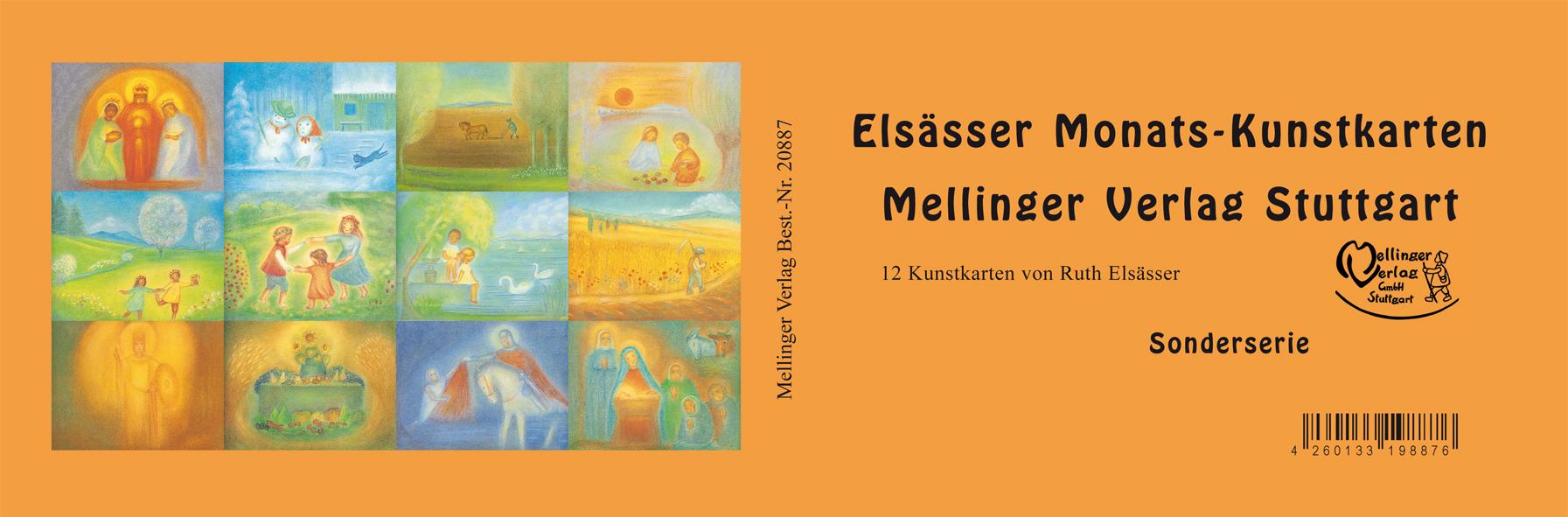 Elsässer Monats-Kunstkarten 12 Stück