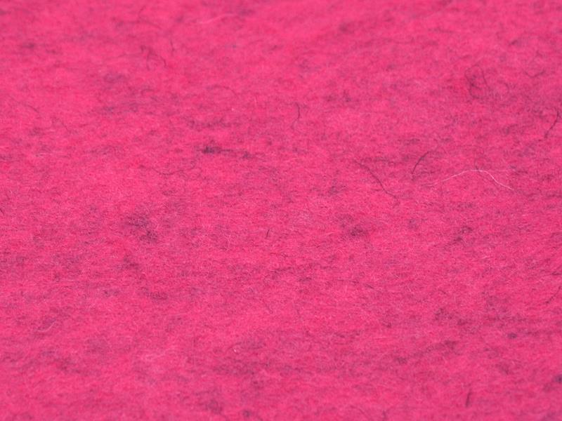 Wollfilz 2 mm meliert in Himbeer - Meterware