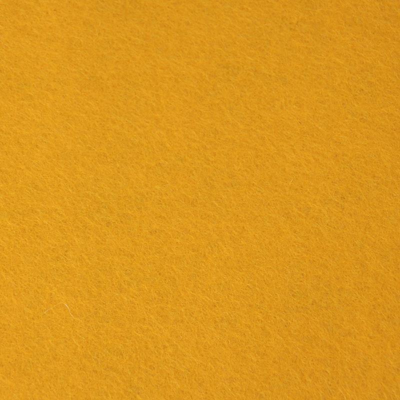 100% reiner Wollfilz Goldgelb Meterware