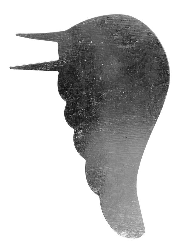 Metall-Engelsflügel in silber 12,5 cm 2 Paar