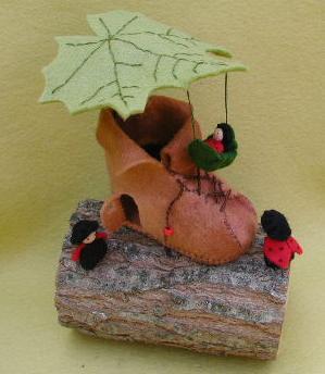Käferhaus für den Jahreszeitentisch Bastelpackung