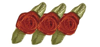 Satinröschen in Rot