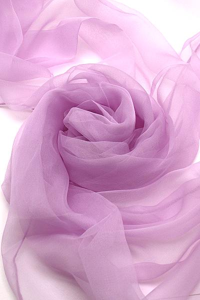 Seidenschal aus Chiffon 180 x 55 cm Rose