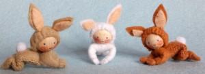 Drei Kaninchen als Bastelset Atelier Pippilotta