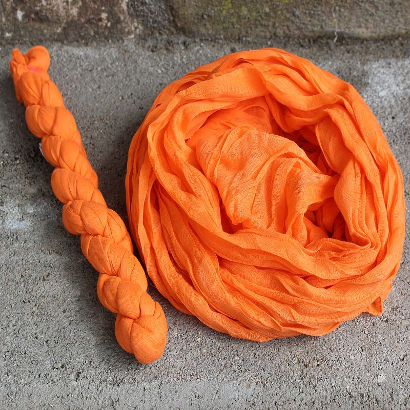 Uni Baumwollschal Orange 170  x 50 cm