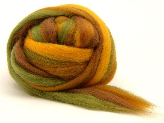 Filzwolle / Feiner multicolor Merinokammzug Herbst