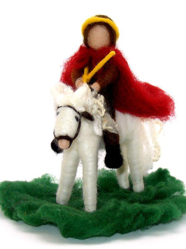 Bastelpackung Sankt Martin hoch zu Ross aus Märchenwolle T&W